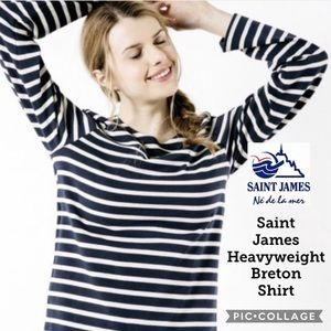 Tops - Saint James Heavyweight Breton Unisex Shirt